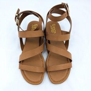 Franco Sarto Gauge Leather Sandal Havana 9.5